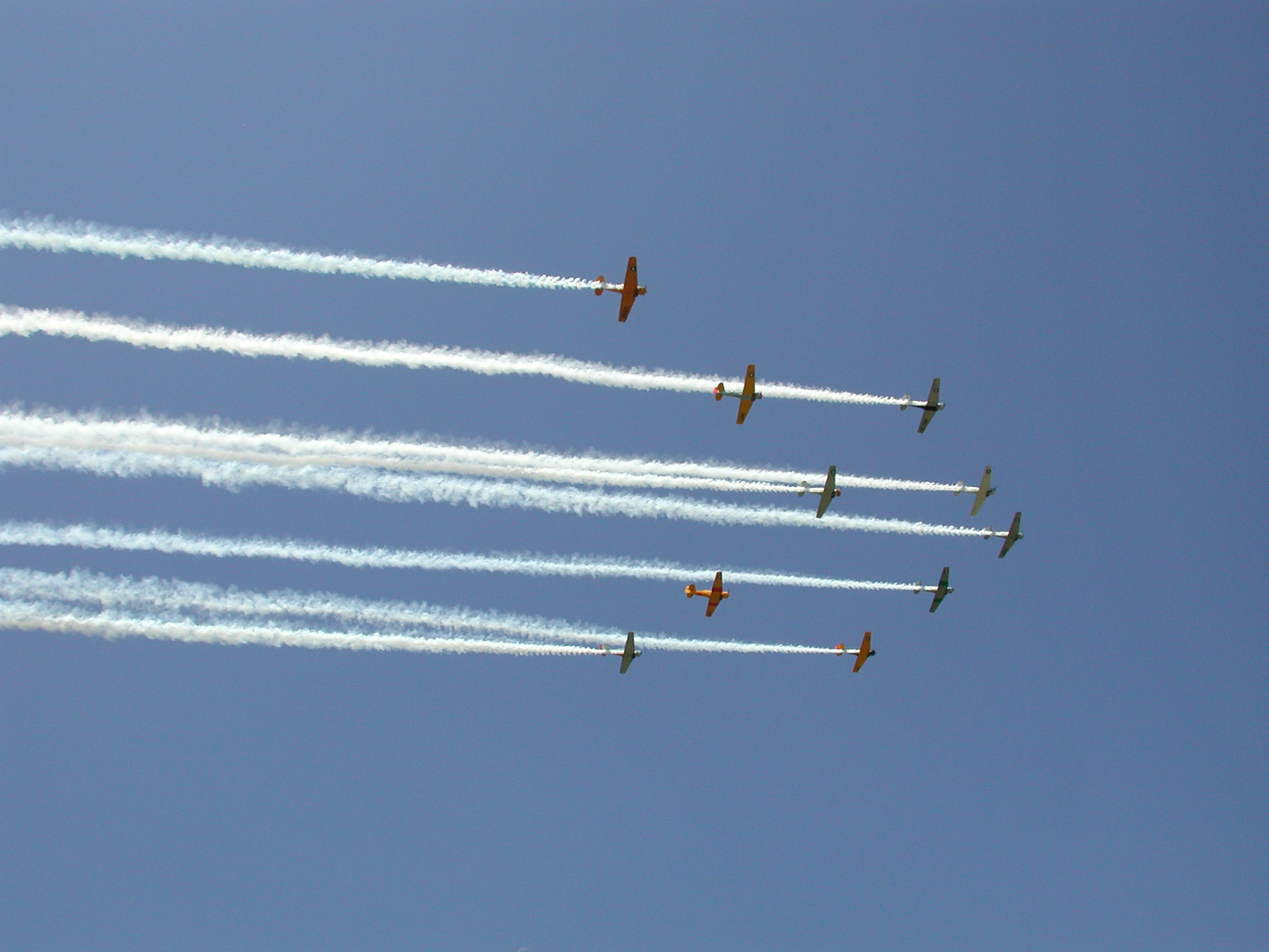 Airplane Flying in Formation